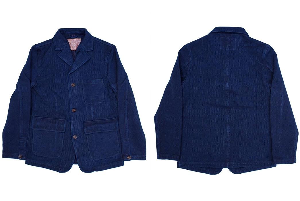 Introduce-The-Office-To-Sashiko-With-Studio-d'Artisan's-Kasezome-Dyed-Sashiko-Tailored-Jacket-front-back