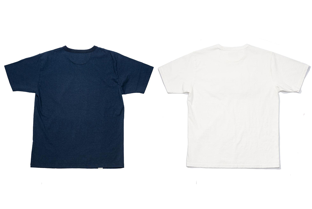 Japan-Blue-Celebrates-Indigo-&-Cote-d'Ivoire-With-a-Duo-Of-Graphic-Tees-back-blue-and-white