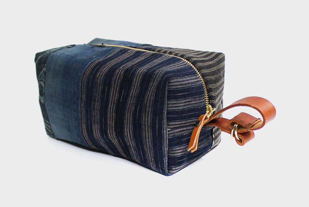 Kiriko-Stitches-Up-a-Collection-Of-Boro-Dopp-Kits-blue