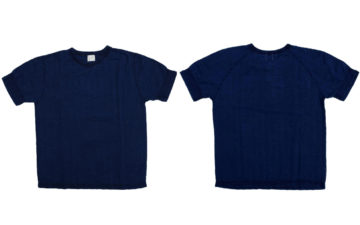 Okayama-Denim-Teams-With-Loop-&-Weft-For-A-Indigo-Dyed-Broad-Stitch-T-Shirt-front-back