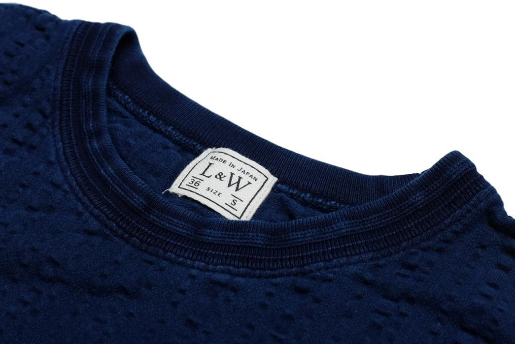 Okayama-Denim-Teams-With-Loop-&-Weft-For-A-Indigo-Dyed-Broad-Stitch-T-Shirt-front-collar