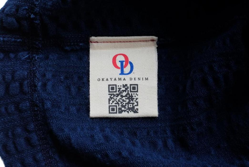 Okayama-Denim-Teams-With-Loop-&-Weft-For-A-Indigo-Dyed-Broad-Stitch-T-Shirt-inside-brand