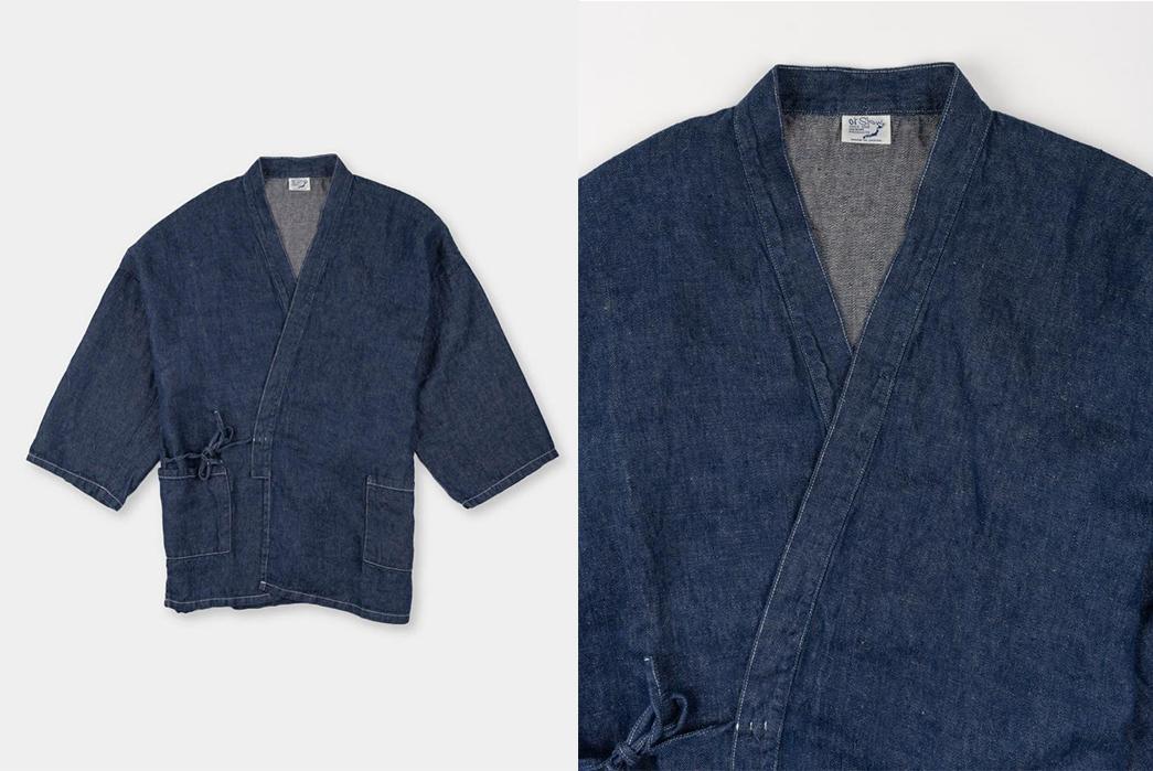 oRslow's-Takumi-Jacket-Ties-Up-Linen-Denim-fronts