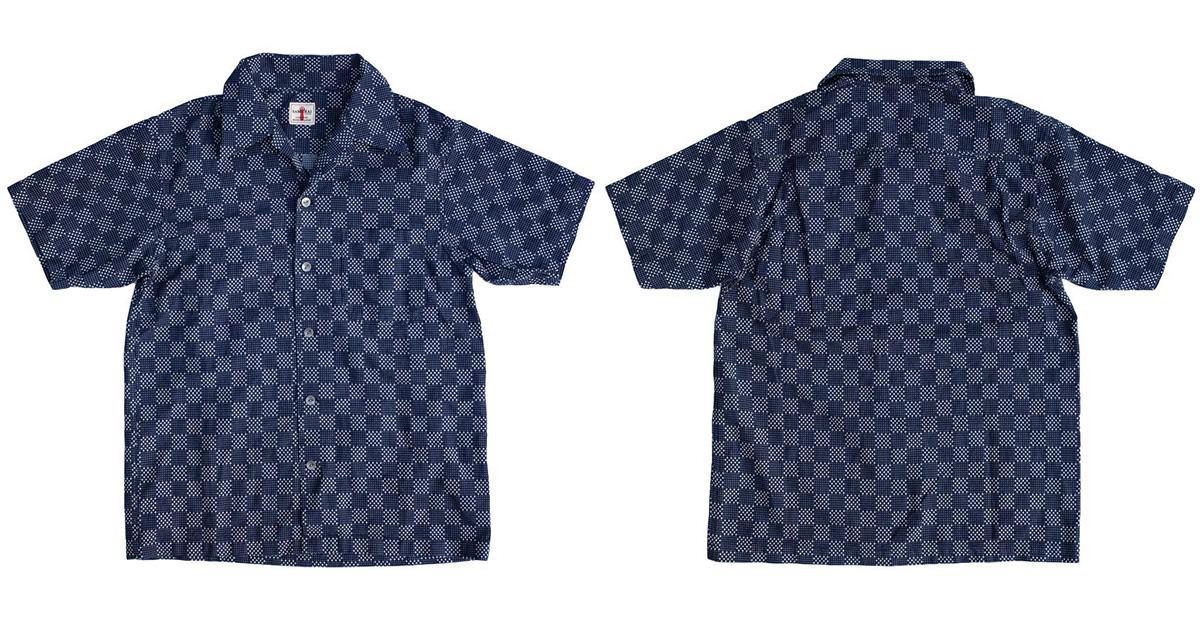 social-Samurai-Checks-Into-Spring-With-a-Sashiko-Aloha-Shirt-front-back