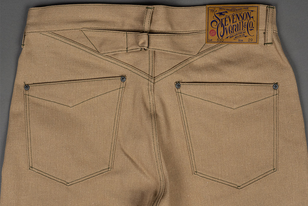 Stevenson-Overall-Co.-Praises-Beige-With-Its-Coloma-530-Jean-back-top