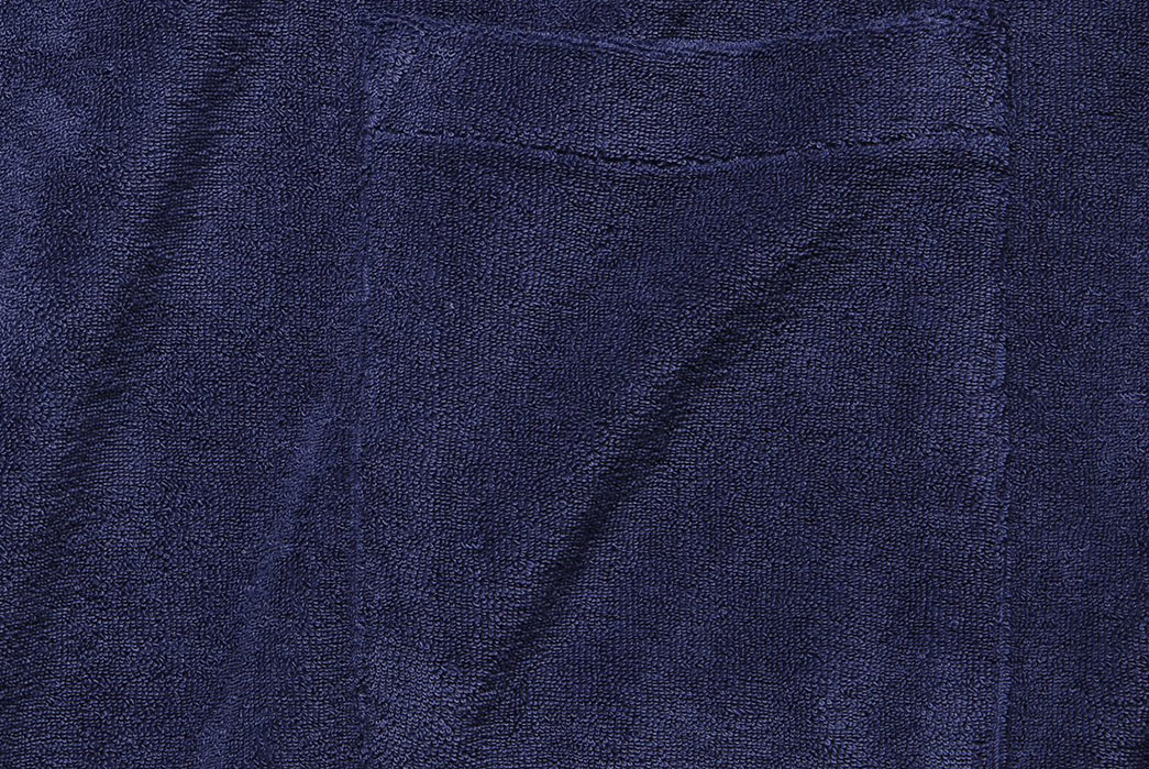 Take-An-Indoor-Vacation-With-Universal-Works'-Terry-Polo-front-blue-pocket
