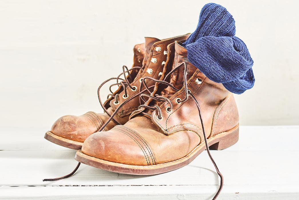 Hudson-Hill-Knits-Its-Warp-Ragg-Sock-From-Indigo-Yarns-in-boots