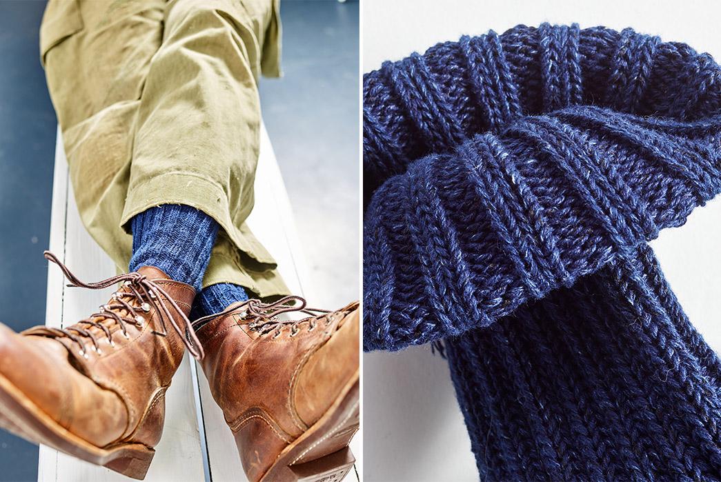 Hudson-Hill-Knits-Its-Warp-Ragg-Sock-From-Indigo-Yarns-model-and-single