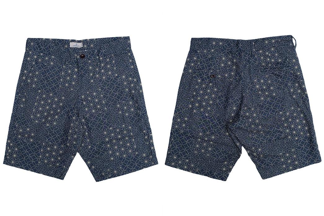 Japan-Blue-Merges-Japanese-Textile-Crafts-With-Its-Asanoha-Sashiko-Short-front-back