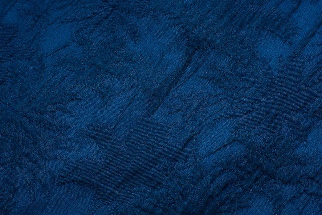 Japan-Blue-Palms-an-Indigo-Open-Collar-Shirt-detailed