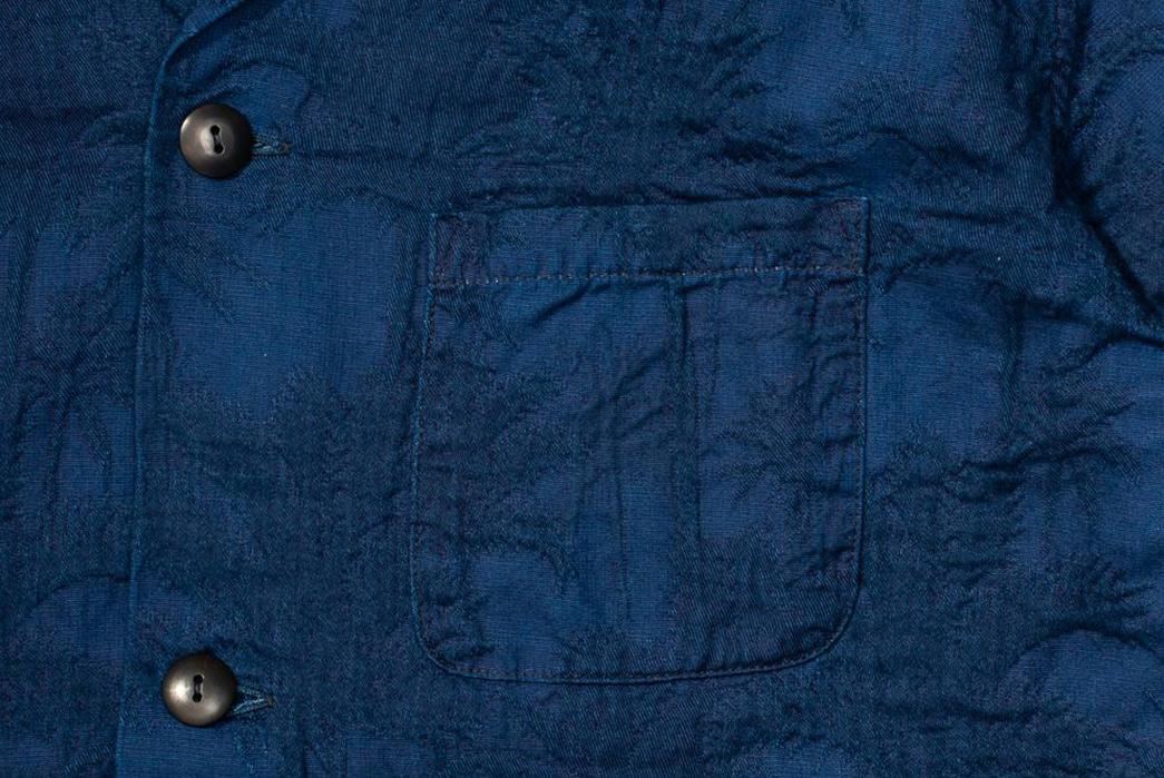 Japan-Blue-Palms-an-Indigo-Open-Collar-Shirt-pocket