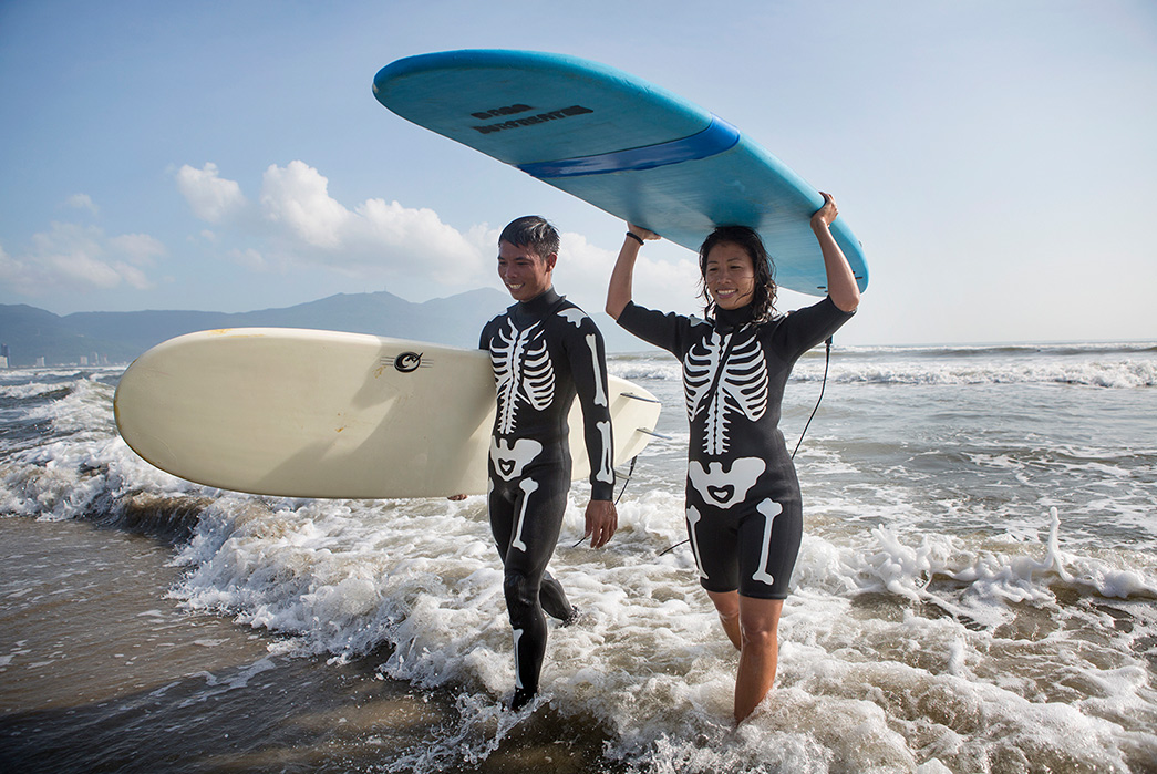 Kapital-Heads-to-Vietnam-For-Its-2020-Lookbook-male-and-female-surfers