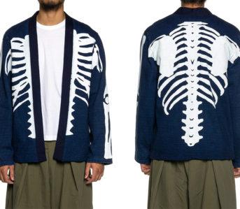 Kapital-Strips-The-Cardigan-To-Its-Bare-Bones-With-Its-Dense-Jersey-Kakashi-Cardigan-model-front-back