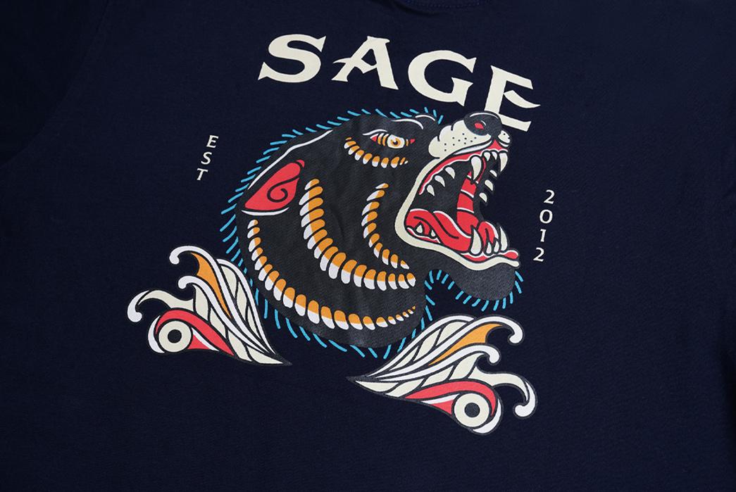 Sage-Prints-a-Quintet-Of-Graphic-T-Shirts-front-black-dragon