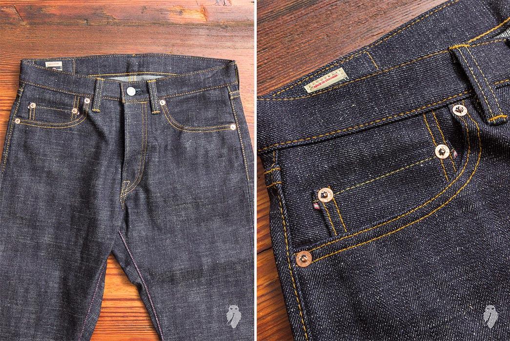 Selvedge-Slub-Jeans---Five-Plus-One 1) Momotaro: *-82 16Oz. Slub Selvedge
