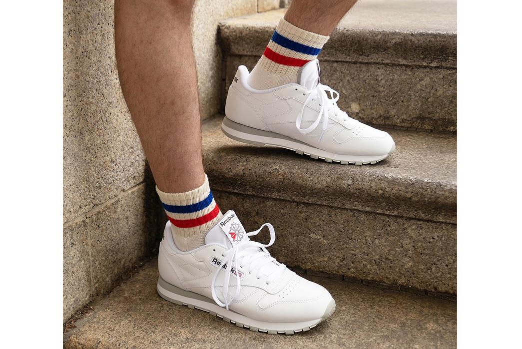 American-Trench-Retro-Stripe-Quarter-Crew-Socks-Are-Knitted-In-North-Carolina-model