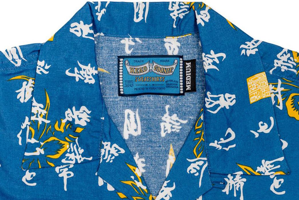 Do-The-Truffle-Shuffle-In-These-Pherrow's-x-Head-Goonie-Hawaiian-Shirts-front-blue-collar