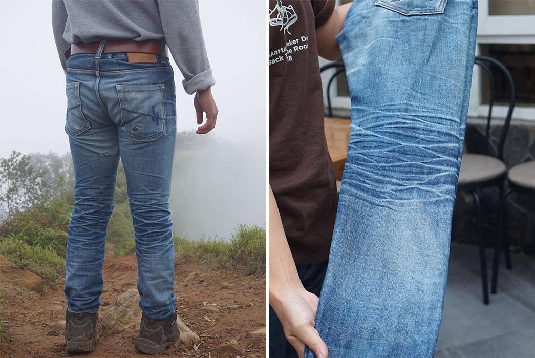 Fade-Friday---Mischief-Denim-SR-002-Jager-Bones-(1-Year,-1-wash,-2-Soaks)-model-back-and-leg