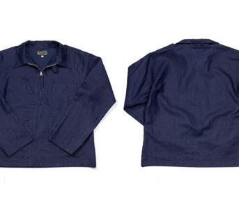 Flex-On-The-Docks-In-Mister-Feeedom's-Herringbone-Longshoreman-Shirt-front-back