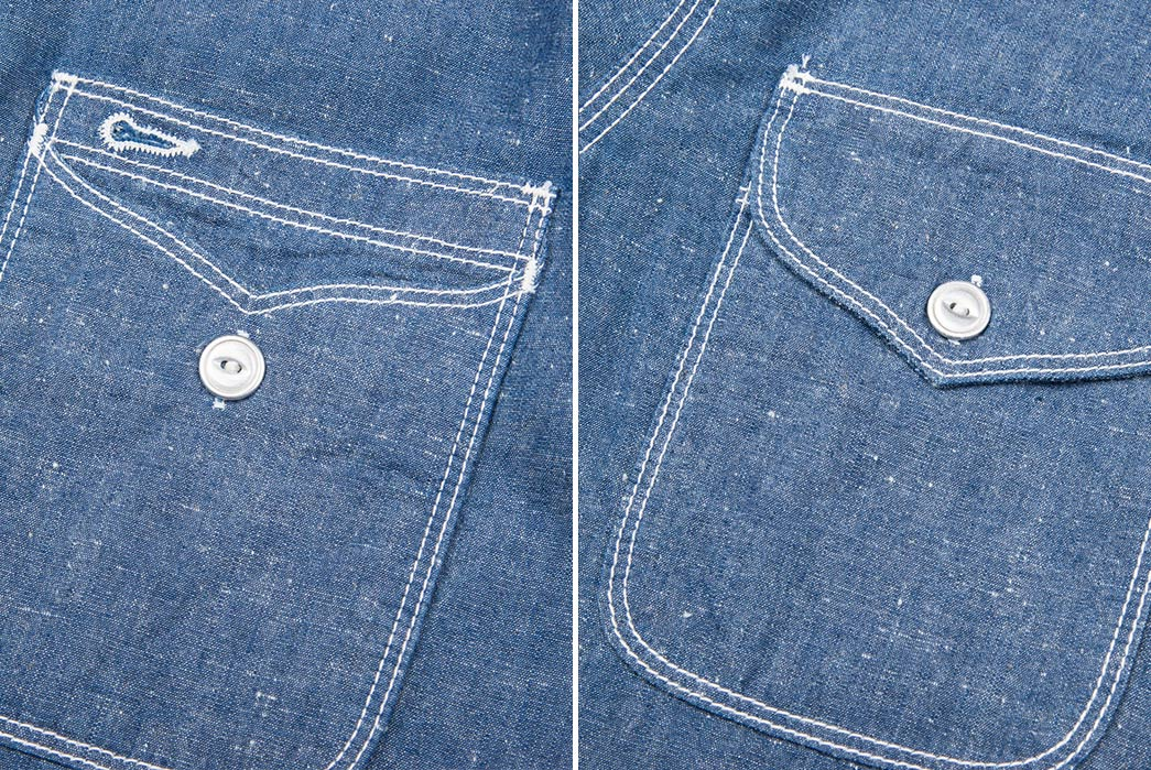 Freenote-Cloth's-Lambert-Shirt-Is-a-Finely-Tuned-Chambray-front-pockets