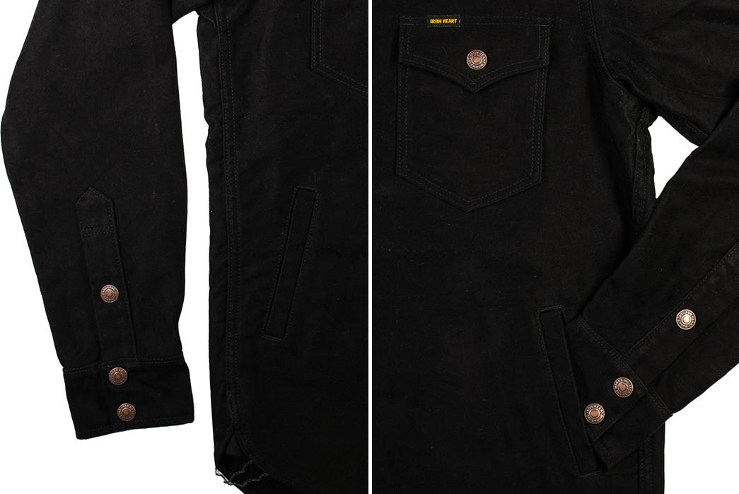 Iron-Heart-Serves-Up-a-Black-Moleskin-CPO-Exclusive-to-Self-Edge-sleeves