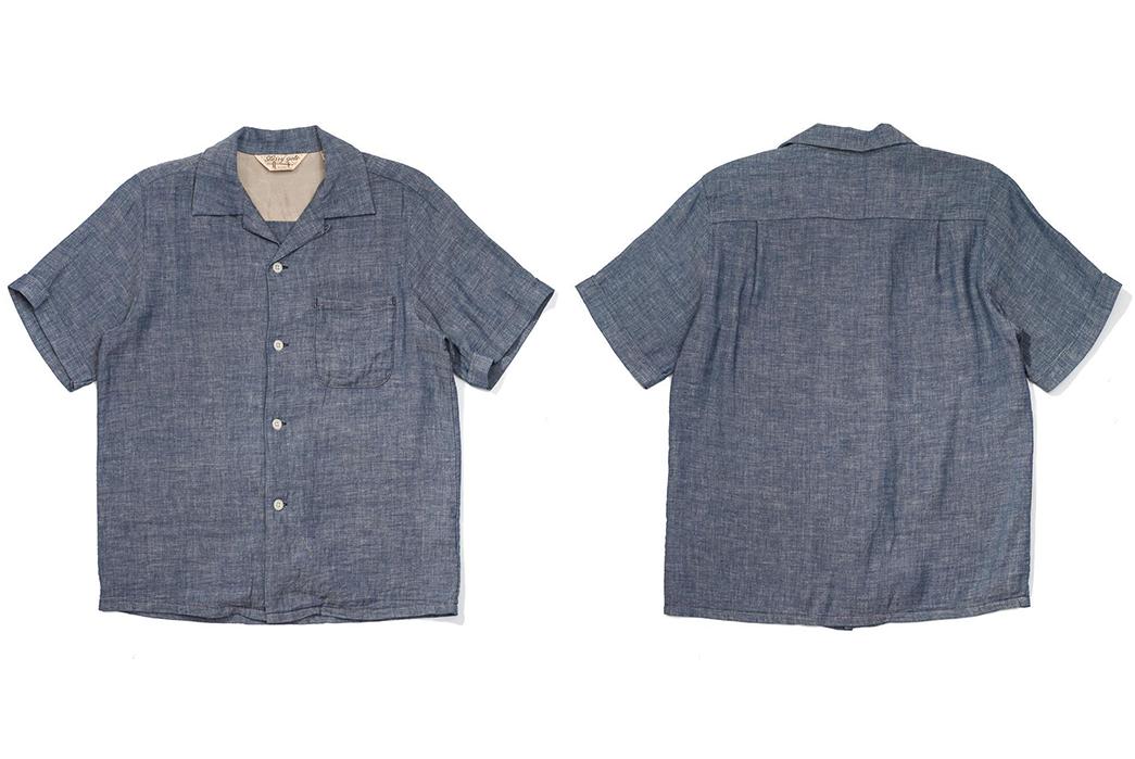 Jelado-Renders-Its-Westcoat-Shirt-In-Indigo-Dyed-Cotton-Gauze-front-back