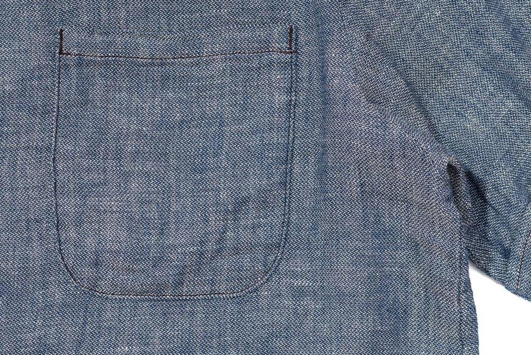Jelado-Renders-Its-Westcoat-Shirt-In-Indigo-Dyed-Cotton-Gauze-front-pocket