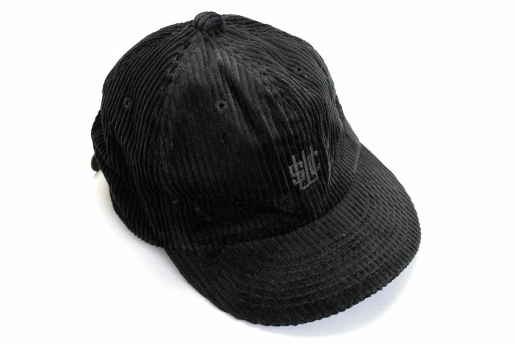 Samurai-Sews-Up-a-Ball-Cap-In-Wide-Waled-Japanese-Corduroy-black