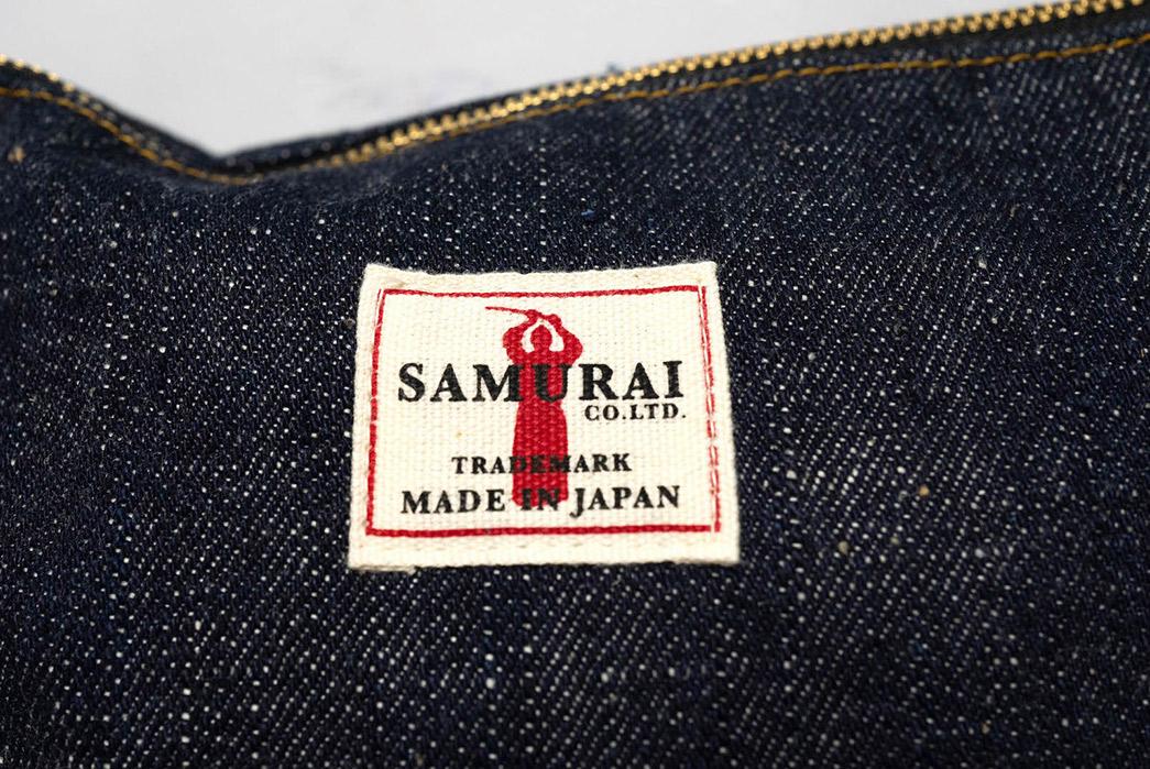 Samurai-Wields-a-17-oz.-Denim-Tool-Bag-brand