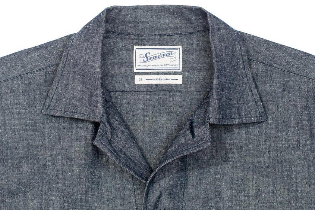 Soundman-Rings-Through-Its-Austin-Shirt-Jacket-In-a-Cotton-Linen-Blend-front-top-collar