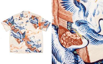 Sun-Surf-Patterns-Crepe-Rayon-With-Elegant-Cormorants