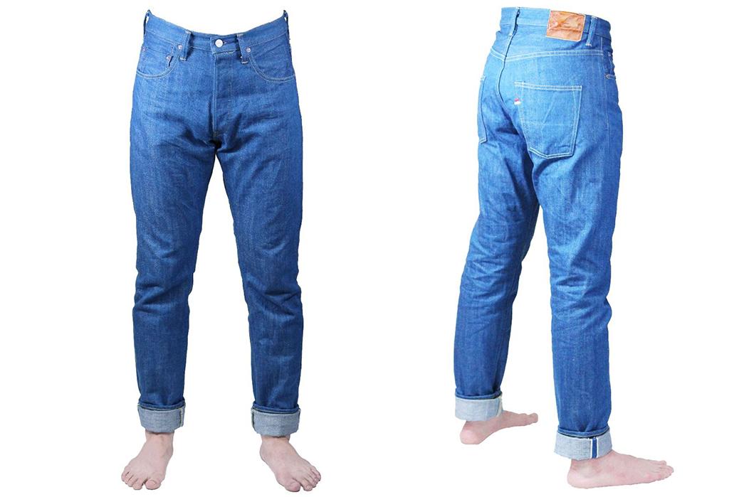 Tanuki-Giveaway---Win-a-Piece-of-Kaze-Denim-pants-model-front-side