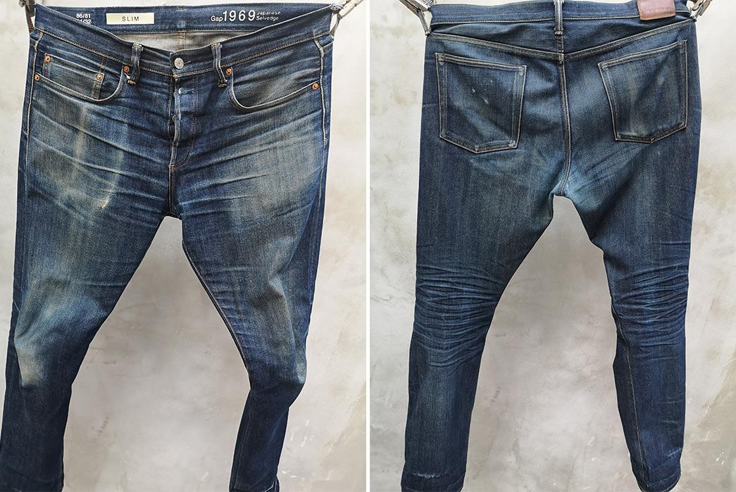 Fade-Friday---Gap-Kaihara-Slim-Cut-(4-Years,-1-Wash,-4-Soaks)-front-back