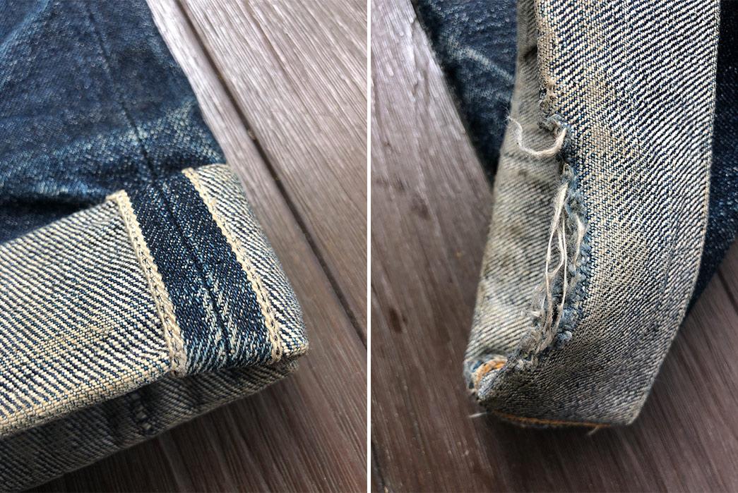 Fade-Friday---Samurai-S710XX-(5-Years,-4-Washes,-No-Soaks)-leg-selvedges