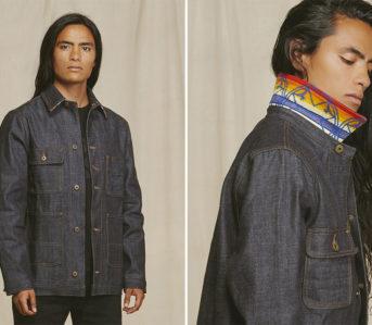 Ginew-Puts-Nihon-Menpu-Selvedge-To-Work-With-Its-Chore-Jacket