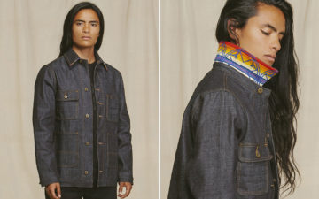 Ginew-Puts-Nihon-Menpu-Selvedge-To-Work-With-Its-Chore-Jacket