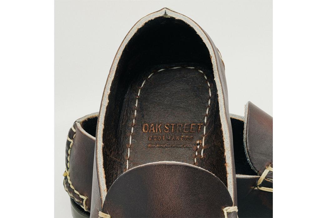Oak-Street-Bootmakers-Slips-Into-Horween-Chromepak-Moccasins-brown-pair-inside