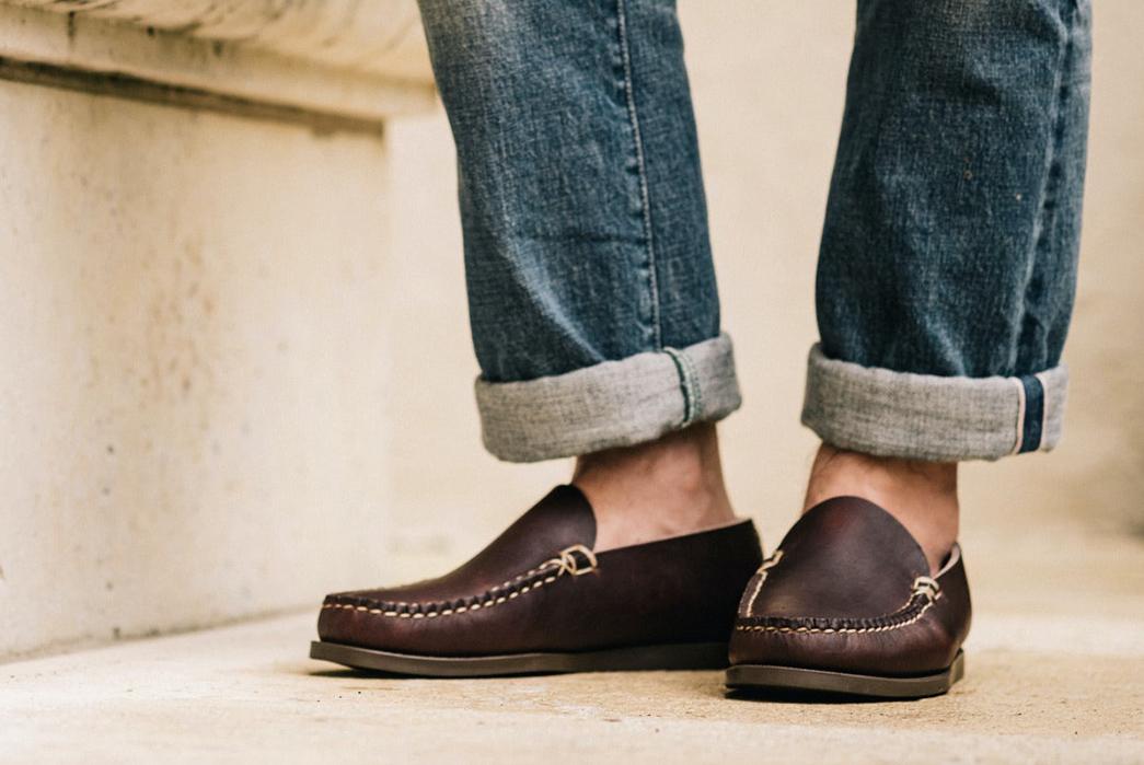 Oak-Street-Bootmakers-Slips-Into-Horween-Chromepak-Moccasins-brown-pair-model-front
