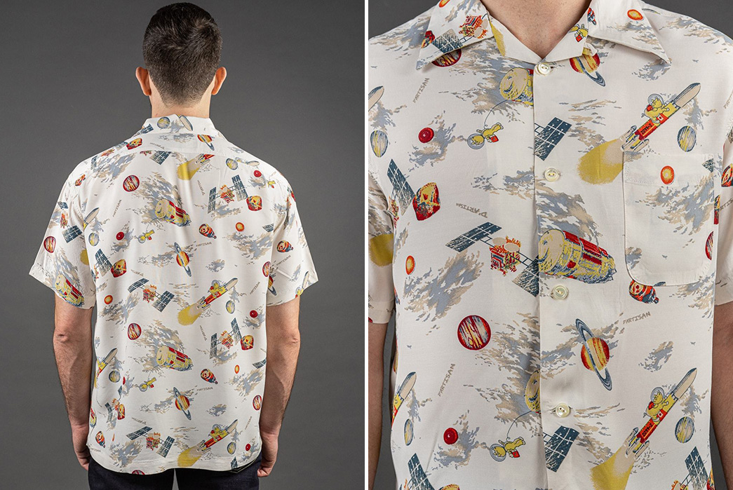 Studio-D'Artisan-Enters-The-Final-Frontier-With-Its-Space-Aloha-Shirt-model-back-and-front-detailed