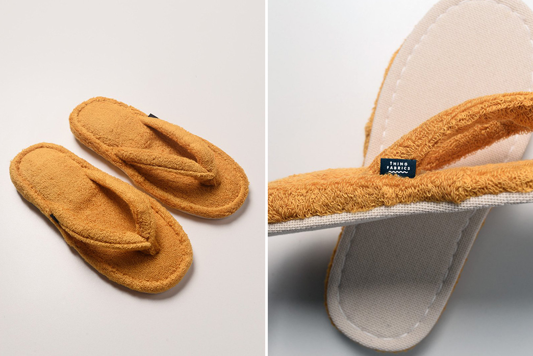 WFH-In-Style-With-Thing-Fabrics-Japan-Made-Terry-Cloth-House-Sandals-yellow