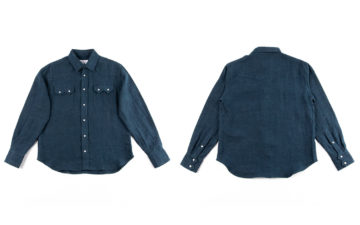 Blluemade-Collaborates-With-Standard-&-Strange-For-a-Flaxen-Western-Shirt-front-back