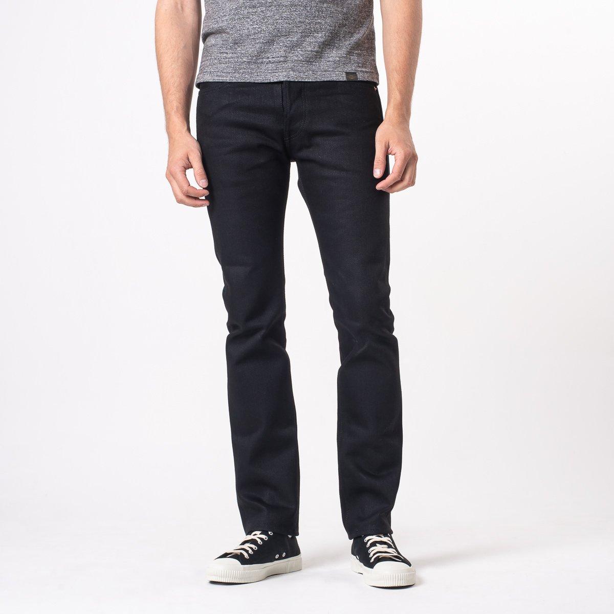 Iron Heart IH555-03 21oz Selvedge Denim Super Slim Jeans – Superblack