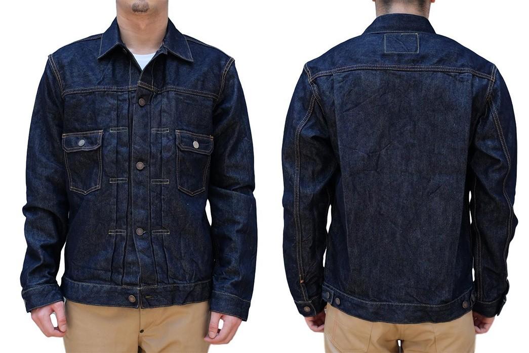 Momotaro-Weaves-a-Silk-Weft-Into-Its-Latest-Type-II-Trucker-Jacket-model-front-back