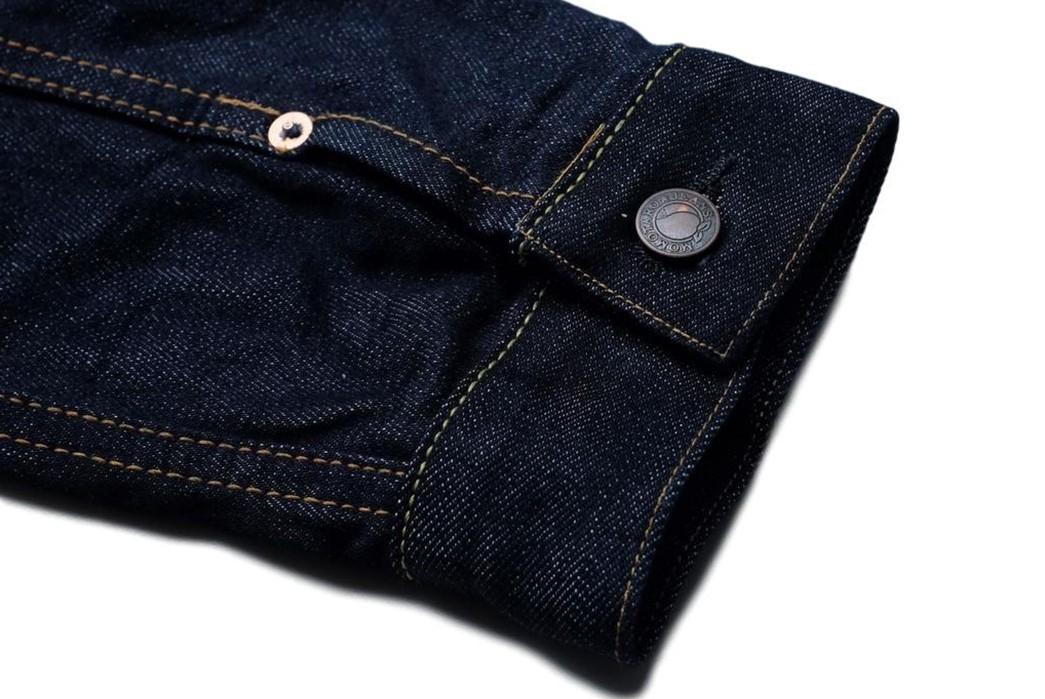 Momotaro-Weaves-a-Silk-Weft-Into-Its-Latest-Type-II-Trucker-Jacket-sleevs