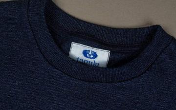 Plain-Indigo-T-Shirts---Five-Plus-One-5)-Tanuki-HSS-Heavy-Shinkai-Indigo-T-Shirt-collar
