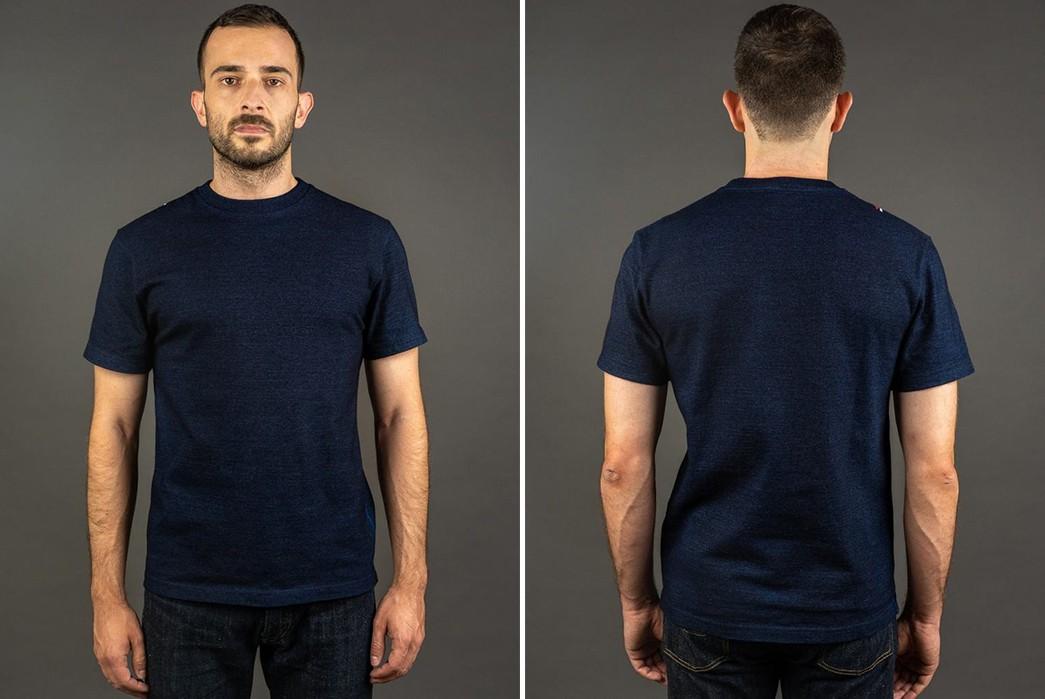 Plain-Indigo-T-Shirts---Five-Plus-One-5)-Tanuki-HSS-Heavy-Shinkai-Indigo-T-Shirt
