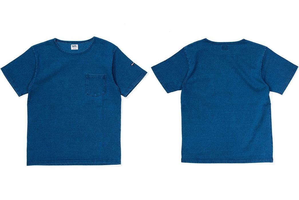 Plain-Indigo-T-Shirts---Five-Plus-One-Plus-One---Pherrow's-19S-Paul-Tee-Shirt