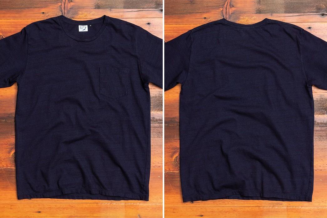 Plain-Indigo-T-Shirts---Five-Plus-One 1) OrSlow: Indigo Pocket Tee