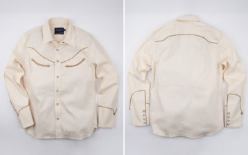 Ramble-On-With-a-Smile-In-Freenote-Cloth's-Latest-Western-Shirt-front-back