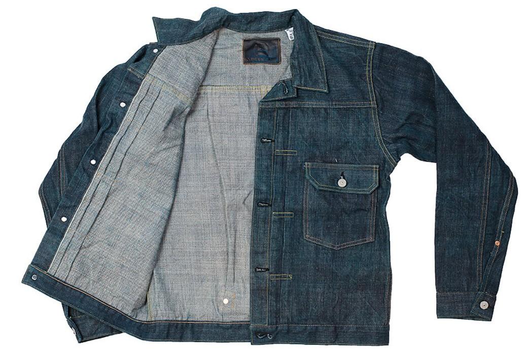 Sugar-Cane-Celebrates-55-Years-With-Its-Limited-Edition-Edo-AI-Denim-jacket-front-open